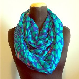 Infinity Scarf - Blue/Green/Pink